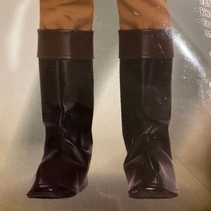 Colonial costume boots